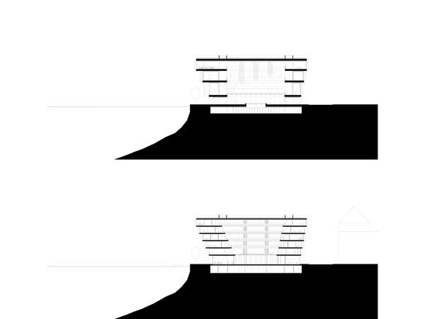 Querschnitt Foyer – Querschnitt kleiner Saal
