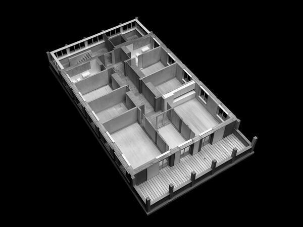 Modell Wohngeschoss